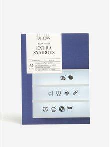 Simboluri negre cu tematica de petrecere pentru caseta LED BUTLERS