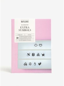 Simboluri negre cu tematica bebelus pentru caseta LED  BUTLERS