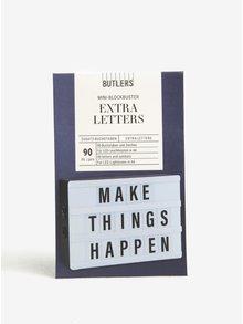 Černá písmena pro mini světelný box BUTLERS