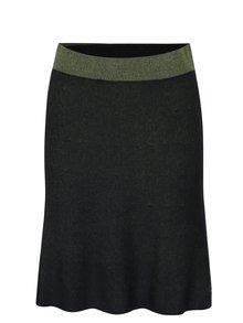 Zeleno-čierna obojstranná áčková svetrová sukňa Skunkfunk