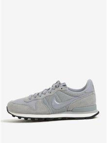 Šedé dámské tenisky se semišovými detaily Nike Internationalist