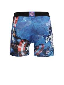 Modré pánske boxerky s potlačou Captain America Freegun