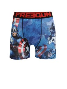 Modré pánské boxerky s potiskem Captain America Freegun