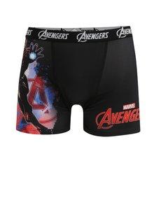 Červeno-černé pánské boxerky s potiskem Avengers