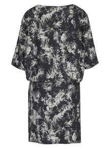Tmavosivé vzorované šaty s netopierími rukávmi Skunkfunk