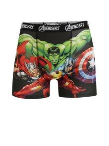 Zeleno-černé pánské boxerky s potiskem Avengers