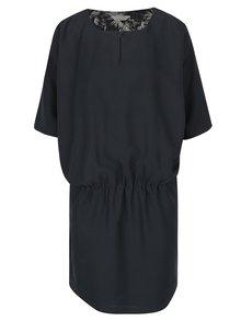 Tmavě šedé šaty s netopýřími rukávy Skunkfunk