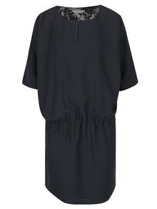 Tmavosivé šaty s netopierími rukávmi Skunkfunk