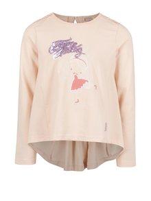 Růžové holčičí tričko s dlouhým rukávem a prodlouženou zadní částí Venere