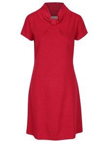 Červené voľné šaty s krátkym rukávom Skunkfunk