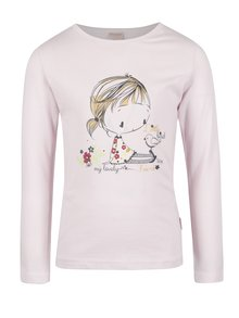 Růžové holčičí tričko s dlouhým rukávem a potiskem Venere