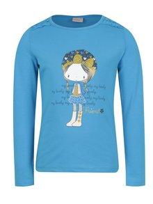 Modré holčičí tričko s dlouhým rukávem a potiskem Venere