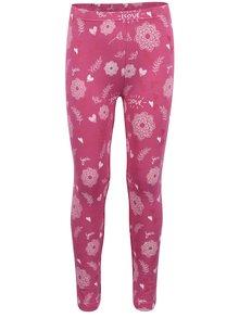 Ružové dievčenské vzorované legíny Venere