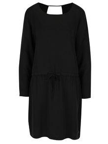 Čierne voľné šaty s prestrihom na chrbte Skunkfunk