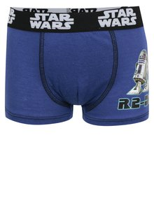 Modré chlapčenské boxerky s potlačou Star Wars