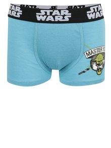 Světle modré klučičí boxerky s potiskem Star Wars