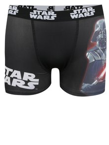 Červeno-černé klučičí boxerky s potiskem Star Wars
