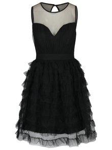 Černé šaty s průsvitným dekoltem a tylovou sukní Little Mistress