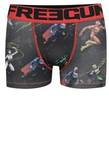 Čierne chlapčenské boxerky s potlačou DC Comics Freegun