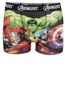 Zeleno-čierne chlapčenské boxerky s potlačou Avengers