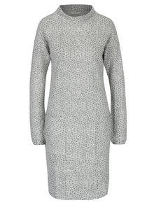 Svetlosivé vzorované mikinové šaty s vreckami Skunkfunk