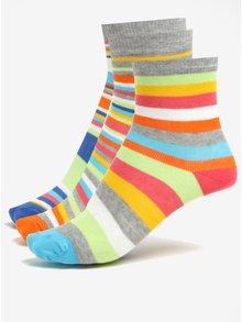 Súprava troch detských pruhovaných ponožiek Oddsocks Rainbow