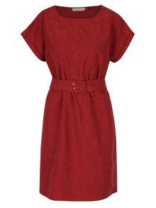 Červené vzorované šaty s opaskom Skunkfunk