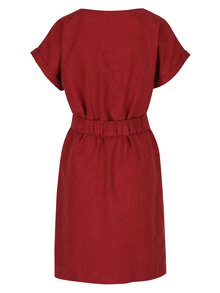 Červené vzorované šaty s páskem Skunkfunk