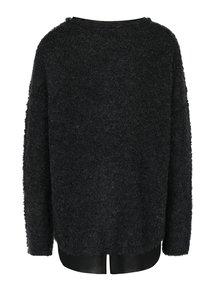 Tmavosivý sveter s prímesou vlny a všitou blúzkou Skunkfunk