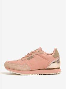 Pantofi sport cu detalii din piele pentru femei - Woden Nora II
