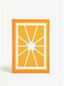 Agenda oranj cu print portocala - Fruitables