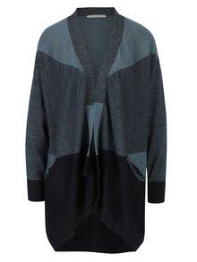 Černo-modrý cardigan s kapsami Skunkfunk