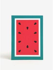 Malý červený zápisník s motivem melounu Fruitables