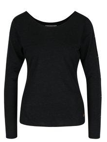Tmavě šedé tričko s průstřihy na rukávech Skunkfunk