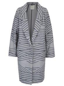 Modro-sivý tenký pruhovaný kabát Skunkfunk