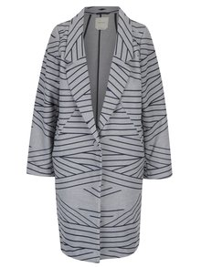 Modro-šedý lehký pruhovaný kabát Skunkfunk