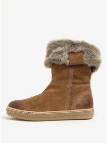 Hnědé dámské semišové zimní boty Weinbrenner