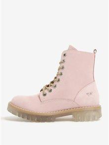 Svetloružové dámske semišové členkové topánky Weinbrenner