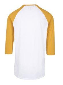 Bluza alb&galben cu maneci 3/4 si print VANS Classic
