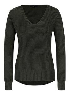 Kaki sveter s véčkovým výstrihom TALLY WEiJL