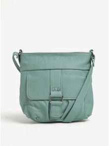 Světle zelená crossbody kabelka s kapsou M&Co