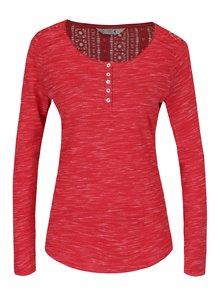Červené dámské žíhané tričko s krajkovým detailem na zádech M&Co