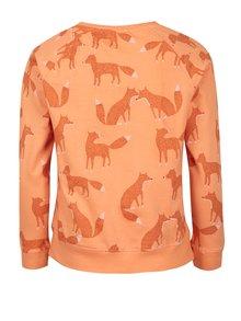 Oranžová dievčenská mikina s potlačou 5.10.15.