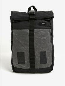 Černo-šedý unisex batoh VANS Plot Roll 25 l