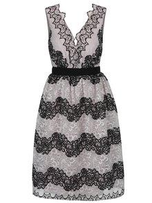 Béžové čipkované šaty Little Mistress
