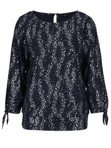 Bluza bleumarin cu stelute argintii si maneci 3/4 M&Co