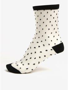 Černo-bílé průsvitné vzorované ponožky Gipsy