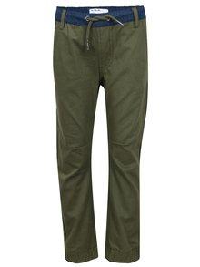 Khaki klučičí kalhoty s pružným pasem 5.10.15.