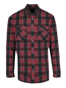 Šedo-červená pánská kostkovaná flanelová košile O'Neill
