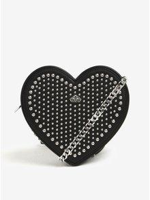 Geanta neagra in forma de inima cu tinte  Fornarina Valentine